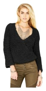 Free People F390x665 Chunky Relaxed Fit Faux Wrap Sweater