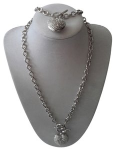 Rimzz 70% OFF NEW -Heart Silver Pave Set