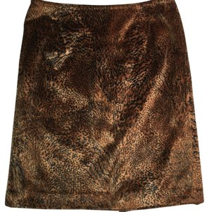 Jones New York Mini Skirt Brown