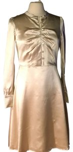 Tocca Silk Wedding Fit And Flare Dress