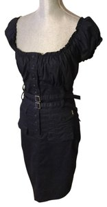 DEPT short dress Navy Blue on Tradesy