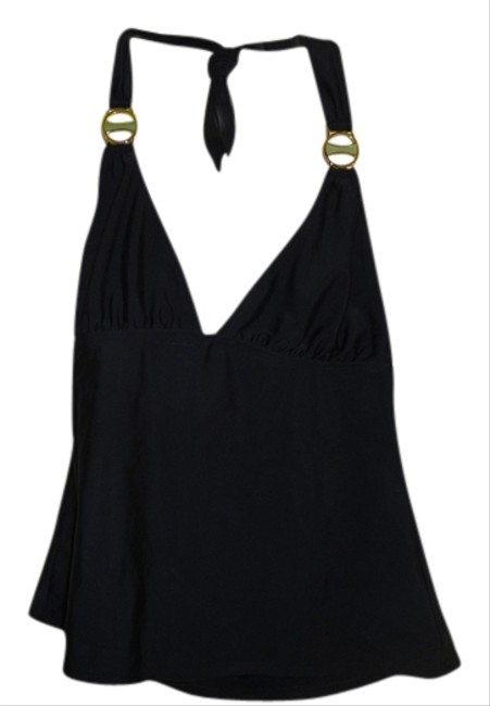 Hermanny Black tankini halter top.