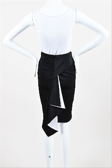 Givenchy Black White Ruffle Back Pencil Skirt durable service