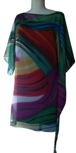 Abi Ferrin Covertible Print Cover-up Off The Shoulder One Shoulder Dress