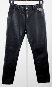 Chico's Platinum 1 X Black Faux Front Pockets Waxed B14 Straight Leg Jeans