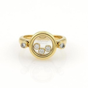 Chopard Chopard Happy Diamonds 18k Yellow Gold Round Top Ring