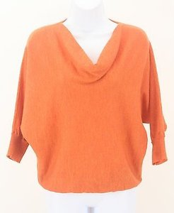 Eileen Fisher Orange Dolman Sleeve B244 Sweater