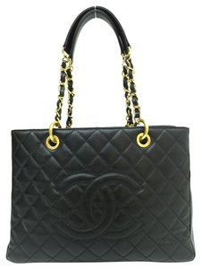 3c5a76eab624 Chanel Grand Shopping Gst Caviar Tote in black