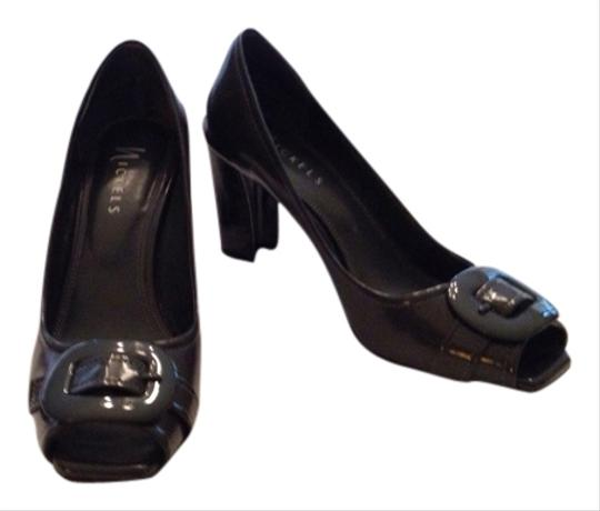 Nickels Gray Patent Pumps