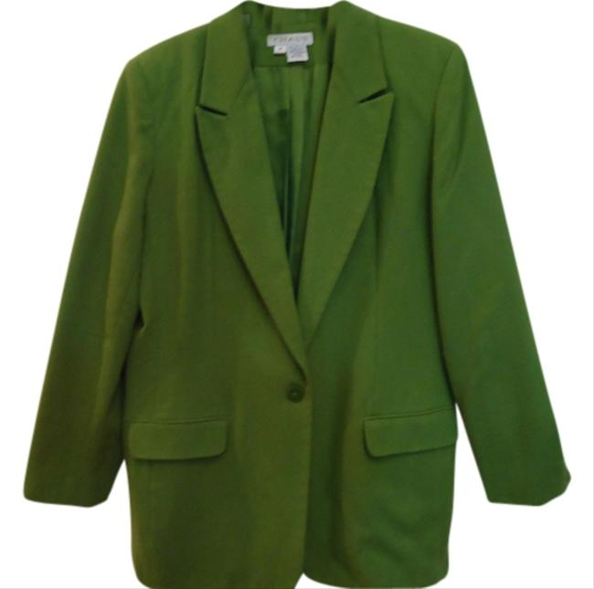 Preload https://img-static.tradesy.com/item/1354029/chaus-chartreuse-green-blazer-size-14-l-0-0-650-650.jpg