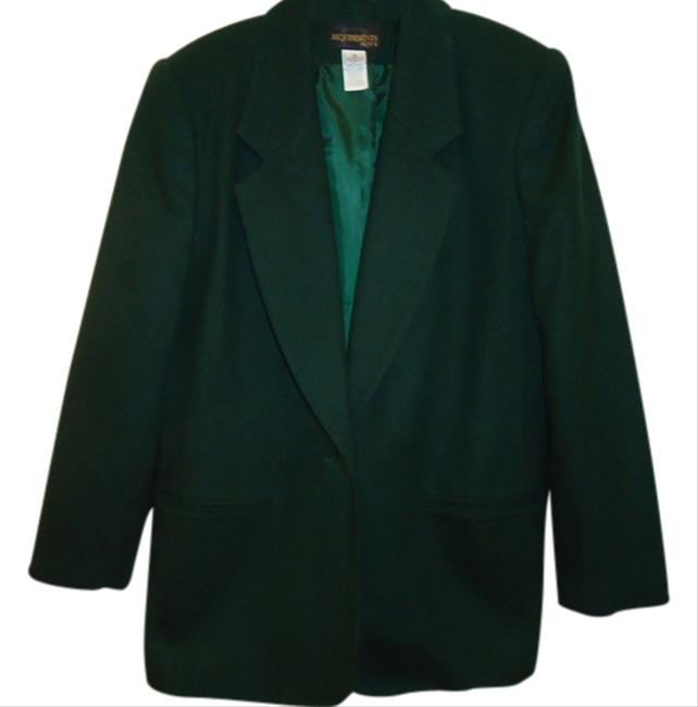 Preload https://img-static.tradesy.com/item/1354048/requirements-hunter-green-blazer-size-petite-10-m-0-0-650-650.jpg