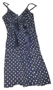American Eagle Outfitters short dress Navy blue, white polka dots Dot Blue on Tradesy