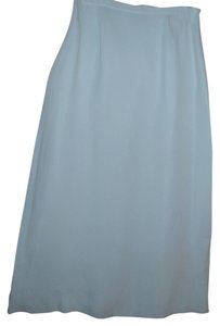 Talbots Pure Silk Long Maxi Skirt blue