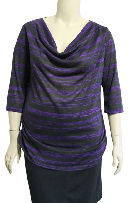Item - Purple/Black New with Tags Tunic Size 22 (Plus 2x)
