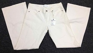 Paper Denim & Cloth And Ivory Cotton Flat Front Sm13503 Flare Leg Jeans
