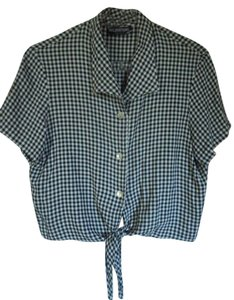 Inclinations Top Black & White Check