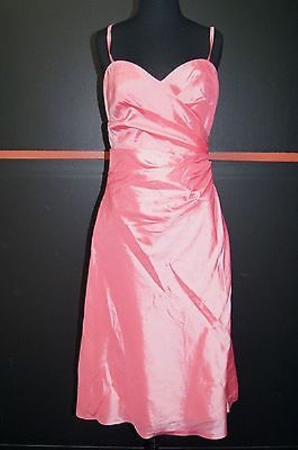 Item - Impression Pink Shimmer 100 Polyester Spaghetti Strap Ruched Front Gown10 24432