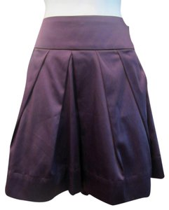 Wet Seal Satin Mini Skirt Purple