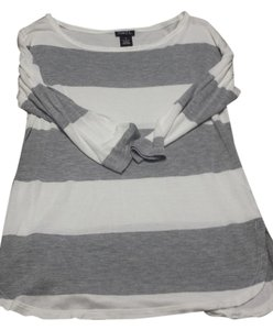 Rue 21 Striped Top White & Gray