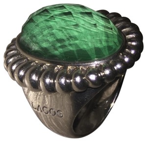 Lagos LAGOS Venus Malachite Fluted Double Cocktail Ring.