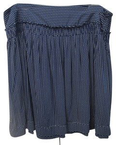 Max Studio Mini Skirt Blue
