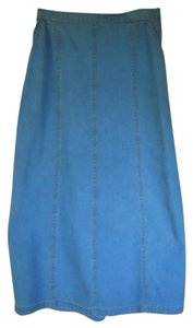 G.W. Petite Western Skirt Denim Blue