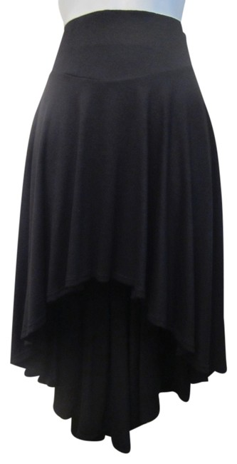 American Rag Hipster Knit Trendy Stretchy Hi-lo Skirt Black