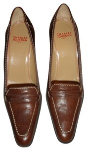 Charles Jourdan Medium Elegant Brand New Made In France Dark Brown Formal