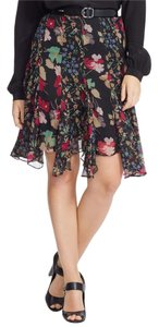 Ralph Lauren Floral Skirt Black