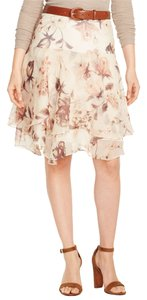 Ralph Lauren Floral Skirt Tan