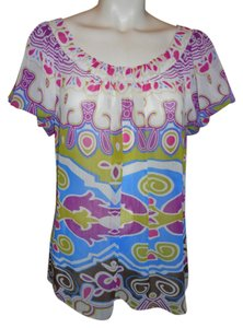 Nicole Miller Top multi color print