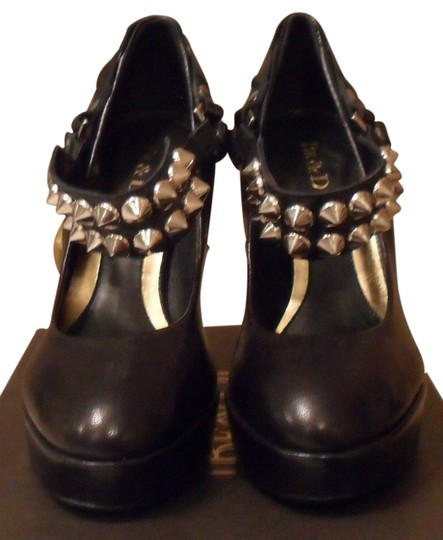 Be&D Be & D Richmond Leather Studded Platform 8 Size 8 New Black Pumps