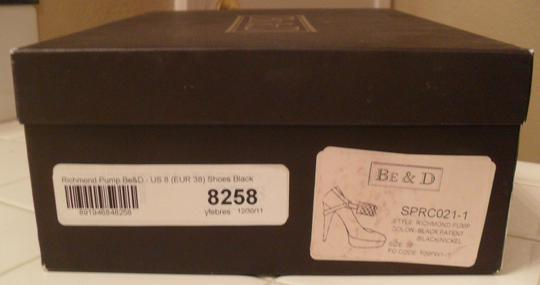 BE&D Be & D Richmond Leather Studded Platform Sz 8 Size 8 Nib New Black Pumps