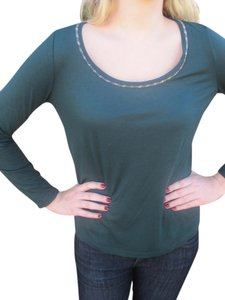 Talbots Longsleeve Scoop Neck Top Green