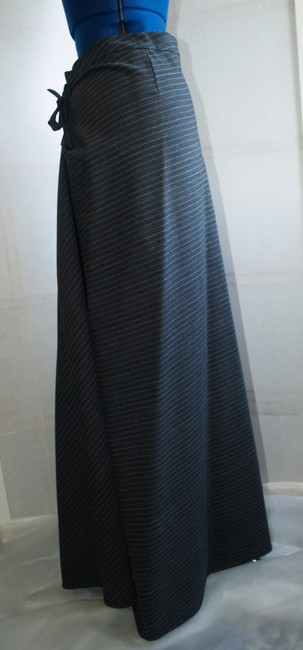 Hannoh Stripped Maxi Skirt Black, dark grey and light grey