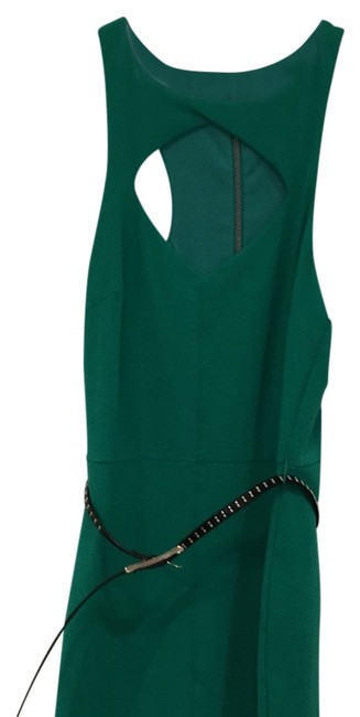 Item - Green Key Hole Top Mid-length Cocktail Dress Size 2 (XS)