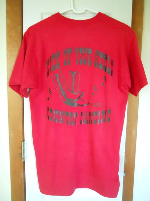 Fruit of the Loom Western T Shirt Red & Black