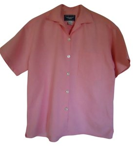 Best American Clothing Company Linen Top Peach Coral