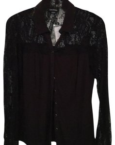 bebe Button Down Shirt Blk