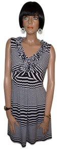 Tiana B. short dress Black & White Striped on Tradesy