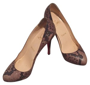 Christian Louboutin Snake skin, tan, brown Pumps