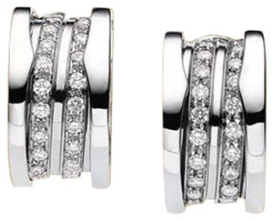 BVLGARI Bvlgari B.zero1 18K White Gold Hoop Earrings OR851274 L
