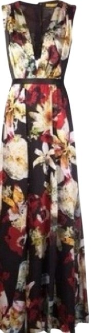 Item - Multicolor With Cut Out Long Formal Dress Size 4 (S)