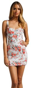 Free People short dress Light Blue, Floral Summer Mini Sexy Feminine on Tradesy