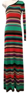 BCBGMAXAZRIA Bcbg Silk Striped One Maxi Dress