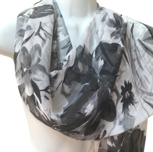 Other Wrinkle Free Sophisticated Floral Long Guazy Scarf