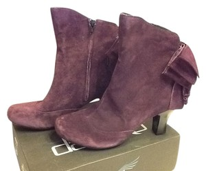 Born Crown Bow Suede Deep Heel Deep Purple Boots
