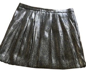 Tory Burch Cocktail Sequin Lighweight Mini Skirt gold