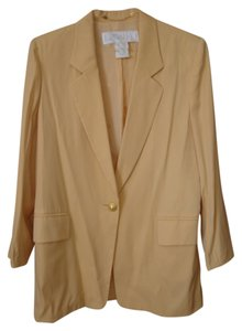 Escada Large Excellent Germany Clean Inside Out Button Down Shirt Peach