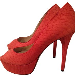 Brian Atwood Heels Orange Pumps